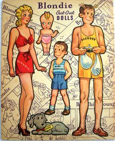 Blondie 1941 reconstructed * Free paper dolls at Arielle Gabriel's The International Paper Doll Society