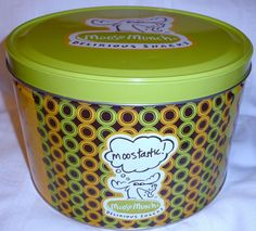 Moose Munch Delirious Snacks Creative & Unique L@@K Tin Box Container Canister