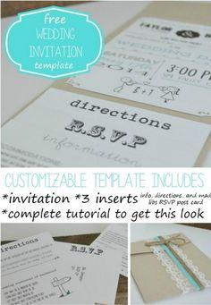 Customizable Wedding Invitation Kit/Template|DIY Wedding Invitation Kits,see more at: http://diyready.com/diy-wedding-invitation-kits/