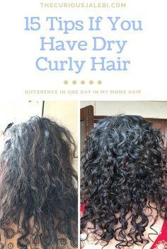 The pictures are of my moms taken on the same day, after I did some of these steps for her! #Curlyhair