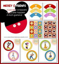mickey and friends cupcake set