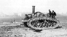 Hornsby chain tractor, 1905.  The company sold its patent to the American Holt Tractor Co., which is now called Caterpillar.