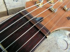 BlackBeard Guitars Mahogany and Walnut Stratocaster brass nut