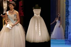 MYROYALS  FASHİON: Princess Madeleine wears one of her mother Queen Silvia's dresses to wedding reception