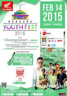 Jangan lewatkan Festival #BandungYouthFest2015 HARI INI 14 Februari 2015 with #SammySimorangkir, #TheOvertunes, #PidiBaiq dan masih banyak lagi at Sasana Budaya Ganesha, #Bandung Info @BDGYouthFes atau kunjungi www.bdgyouthfest.com #AgendaBANDUNG