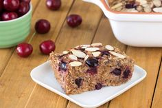 Healthy Cherry Pie Oatmeal Bake http://www.hungry-girl.com/recipe-makeovers/healthy-cherry-pie-oatmeal-bake via @HungryGirl