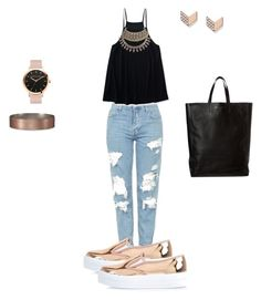 """""""Sin título #29"""" by amtorres08 on Polyvore featuring moda, Topshop, Aéropostale, River Island, FOSSIL y Abercrombie & Fitch"""