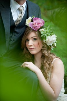Fantastic Hair, Fantastic Flowers!  Midsummer Night's Dream Wedding Inspiration Shoot   Bridal Musings