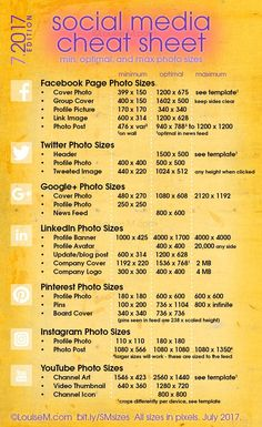 Updated! Social Media cheat sheet with image sizes for Facebook, Twitter, Google+, LinkedIn, Pinterest, Instagram, YouTube. Click to blog for your free printable! And more social media marketing tips for your small business. Clique aqui http://www.estrategiadigital.pt/e-book-ferramentas-de-redes-sociais/ e faça agora mesmo Download do nosso E-Book Gratuito sobre FERRAMENTAS DE REDES SOCIAIS