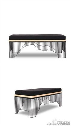 old furniture makeover Bench Furniture, Design Furniture, Metal Furniture, Modern Furniture, Furniture Stores, Ottoman Stool, Chair Bench, Bench Seat, Lounges