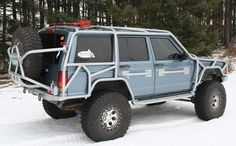I prefer not to park next to the other cars. It lowers the value of your vehicle. Jeep Cherokee XJ exo cage