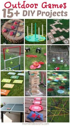 DIY Outdoor Games -Perfect for Backyard Fun I think the kids and adults would like games!