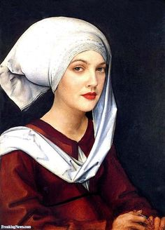 Drew Barrymore Portrait by Durer