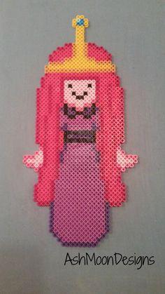 Princess Bubblegum - Adventure Time Perler Bead Figure by AshMoonDesigns