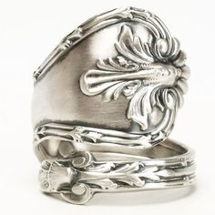 Victorian Ring Sterling Silver Spoon Ring Antique by Spoonier