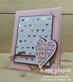 Every Single Day | Stampin\' Up! | Picnic With You | Sure Do Love You #literallymyjoy #valentine #chocolate #love #heart #ValentinesDay #PaintedWithLove #PowderPink #2018OccasionsCatalog #20172018AnnualCatalog