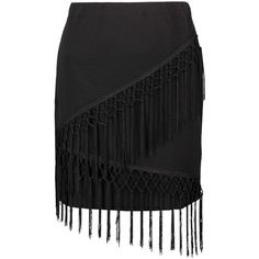 Boohoo Laura Fringe A Line Mini Skirt ($20) ❤ liked on Polyvore