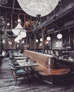 Why not starting your new bar lighting project today Find with Luxxu the best luxury interior design inspiration at Bar Interior Design, Restaurant Interior Design, Cafe Design, Interior Design Inspiration, Bistro Interior, Color Inspiration, Deco Restaurant, Restaurant Lighting, Bar Lighting