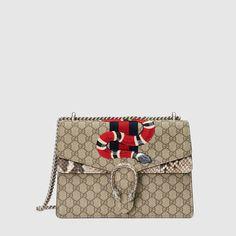 Gucci Borsa Dionysus ricamata in tessuto GG Supreme