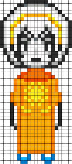 Rose Lalonde Homestuck Openbound perler bead pattern