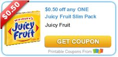 Juicy Fruit Gum Only 19-Cents at Walgreens!