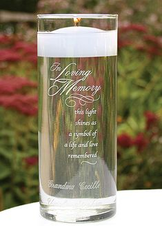 good idea for chris' daddy....maybe light it at the beginning of the ceremony so he can be 'there' for the whole thing