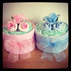 Elizimmy Mini Nappy Cakes - a perfect and unique new baby gift