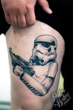 Storm Trooper Star wars #tattoos by #paulberkey