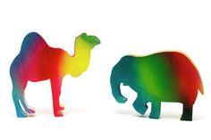 Nursery Art Prints Print featuring the photograph Nursery Animal Art - Camel And Elephant by Donald Erickson