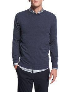Vetel Cashmere Long-Sleeve Sweater, Blue, Women's, Size: MEDIUM - Theory