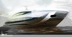 Yacht design sketches