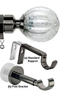 Italia Spinola Polished Graphite Curtain Pole From (Including VAT at Curtain Poles, Curtains, Graphite, Utensil