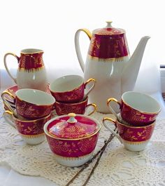 кофейный сервиз Sugar Bowl, Bowl Set, Tea Pots, Tableware, Dinnerware, Dishes, Tea Pot, Tea Kettles, Serveware