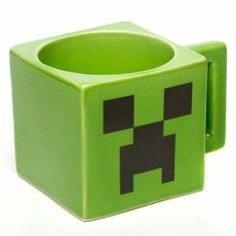 Official Licensed Minecraft Creeper Face Mug Microwave   Dishwasher Safe!  Green Coffee Cups 6896439eb41