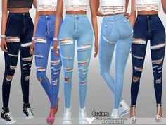 Pinkzombiecupcakes' High Rise Skinny Blue Denim