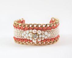 crochet & chain beaded bracelet