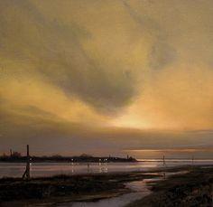 Evening on Iona Flats oil on panel Renato Muccillo