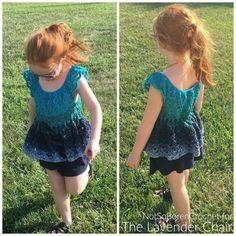 Gemstone Lace Flowy Top (Kids) Crochet Pattern - The Lavender Chair Crochet Vest Pattern, Crochet Blanket Patterns, Top Pattern, Crochet Yarn, Crochet Hooks, Free Crochet, Crochet Top, Rug Patterns, Kids Patterns