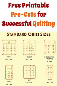 Do you love to quilt, or have you always wanted to learn how to quilt? Before you start your quilt project, be sure to print this handy FREE Printable: 'Pre-Cuts for Successful Quilting' from Craftsy! Download this Free Printable while it is still available. Thanks for supporting The Frugal Girls!