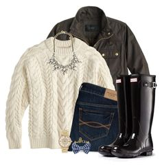 """""""Currently Obsessed with Kiel James Patrick .x"""" by pulitzer-and-pearls ❤ liked on Polyvore featuring J.Crew, Abercrombie & Fitch, Hunter, Michael Kors and Brooks Brothers"""