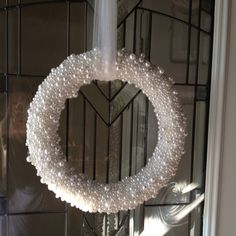 Pearl covered wreath for Winter.