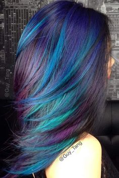 Rainbow Hair Ideas for Brunette Girls — No Bleach Required ★ See more: http://lovehairstyles.com/rainbow-hair-ideas-brunette-girls/