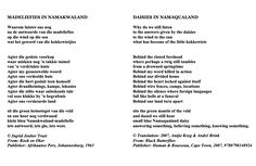 """Poem ©: """"Daisies in Namaqualand"""" - by Ingrid Jonkers (South Africa). Rousseau, Writers And Poets, Afrikaans, Daisies, South Africa, Poems, How To Become, Bedroom, Happy"""
