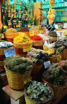 Herb shop at the Spice Bazaar - Istanbul