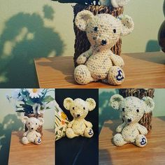 Bear has come along nicely, just needs his winter accessories to keep him warm ❄⛄ #crafters #crafting #bear #homemade #craftingmad #wool #handmade #chilled #wool #bear #teddy #crochet #embroidery #crafts #cute