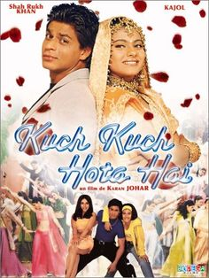 "laugh. cry. love. every single time  ""Something Happens"" -- Kuch Kuch Hota Hai. This was made the year I was born! Happy bday to me ;)"