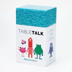 TABLETALK – Manners&Co. Board Game Box, Board Game Design, Board Games, Conversation Cards, Games Box, Save The Day, Box Design, Design Reference, Manners