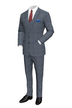 Our stylish trendsetting 3 Piece Suit sets a new look in stone. Now you can rule your concrete jungle and look like the boss you are. Made to measure, made to fit your frame, made to portray the swagger in your being.            Jacket & Pants      Fabric        BLUEVILLE      Composition 80% wool & 20% silk      Season:  Year round      Brightness: Standard              Options    Neck        Pocket Square        Brass Buttons        Lining          Embroiders : C S 1  Select a font…