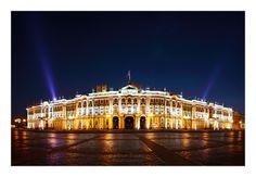 Panorama of Hermitage Museum. St.Petersburg
