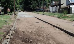 Comenzó la pavimentación de la calle Paraguay.